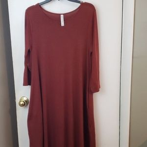 Zenana outfitters rust color dress